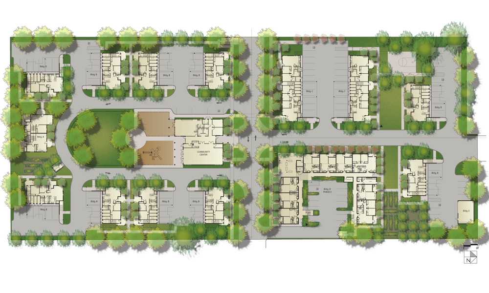 Construction begins on affordable housing project in live for Site plan app